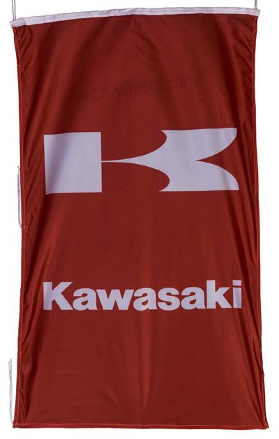 Flag  Kawasaki Vertical Red Flag / Banner 5 X 3 Ft (150 x 90 cm) Kawasaki