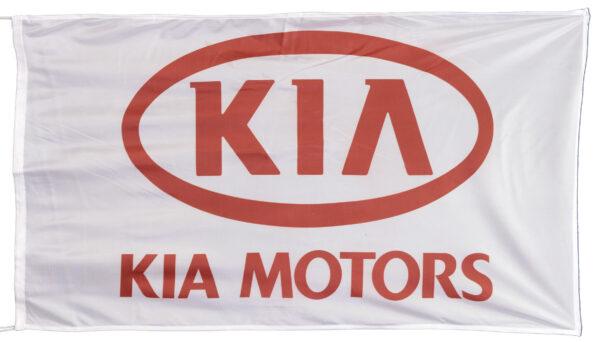 Flag  Kia Landscape White Flag / Banner 5 X 3 Ft (150 x 90 cm) Automotive Flags