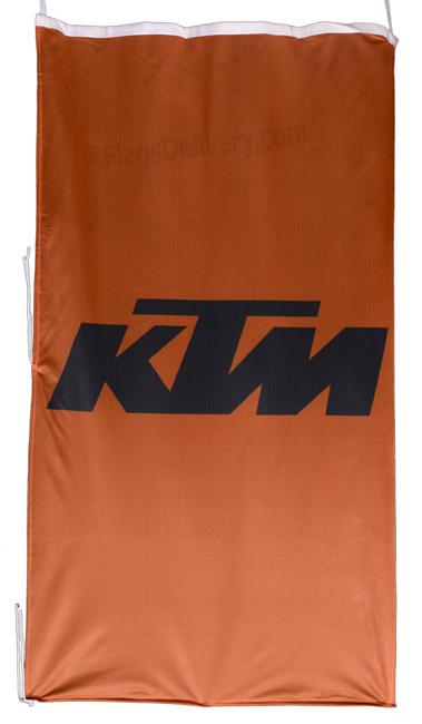 Flag  KTM Vertical Orange Flag / Banner 5 X 3 Ft (150 x 90 cm) KTM