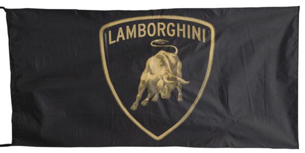 Flag  Lamborghini Landscape Black Flag / Banner 5 X 3 Ft (150 x 90 cm) Automotive Flags