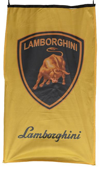 Flag  Lamborghini Vertical Golden Flag / Banner 5 X 3 Ft (150 x 90 cm) Automotive Flags