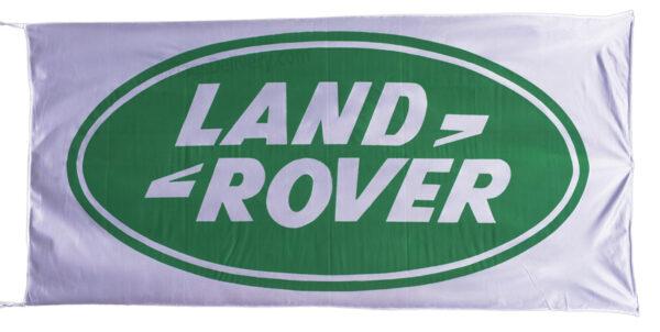 Flag  Land Rover Landscape White Flag / Banner 5 X 3 Ft (150 x 90 cm) Automotive Flags
