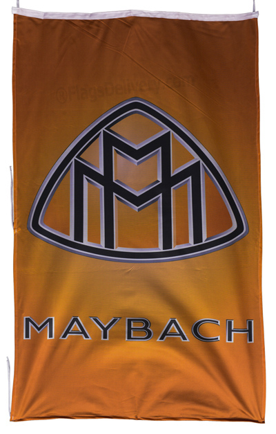 Flag  Maybach Vertical Yellow Flag / Banner 5 X 3 Ft (150 x 90 cm) Automotive Flags
