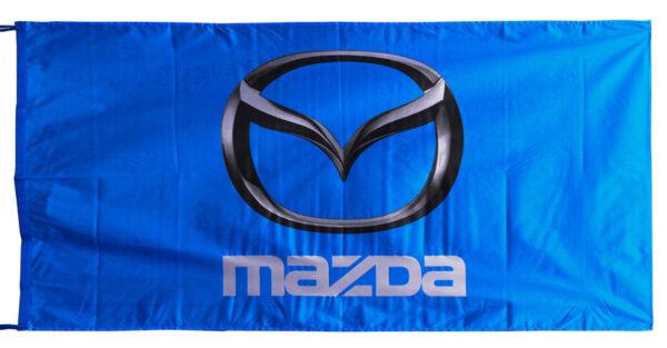 Flag  Mazda Landscape Blue Flag / Banner 5 X 3 Ft (150 x 90 cm) Automotive Flags