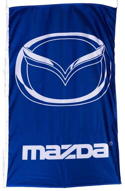Flag  Mazda Vertical Blue Flag / Banner 5 X 3 Ft (150 x 90 cm) Automotive Flags
