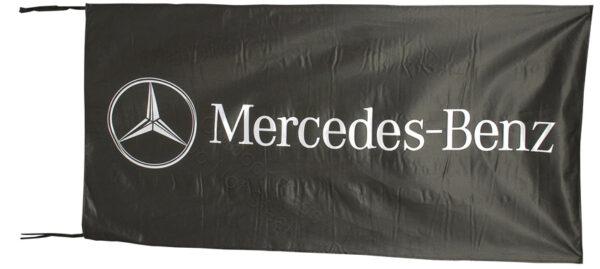 Flag  Mercedes Benz Landscape Black Flag / Banner 5 X 3 Ft (150 x 90 cm) Automotive Flags