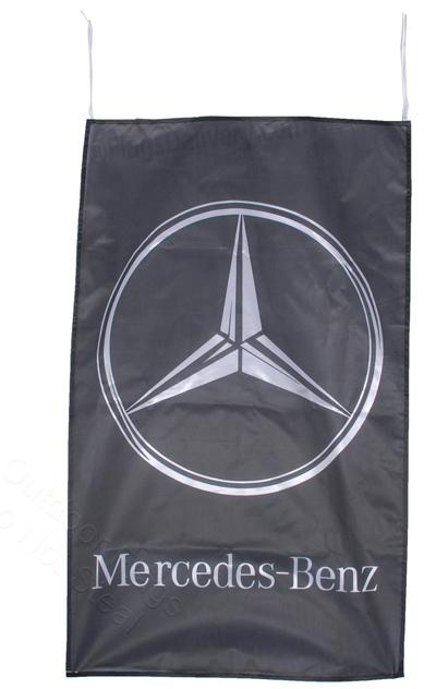 Flag  Mercedes Benz Vertical Black Flag / Banner 5 X 3 Ft (150 x 90 cm) Automotive Flags