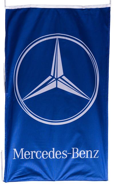 Flag  Mercedes Benz Vertical Blue Flag / Banner 5 X 3 Ft (150 x 90 cm) Automotive Flags