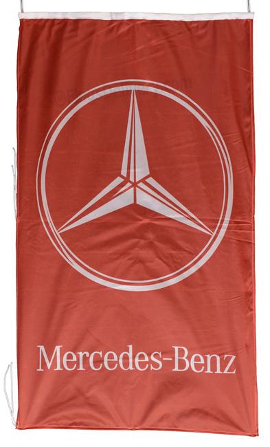 Flag  Mercedes Benz Vertical Red Flag / Banner 5 X 3 Ft (150 x 90 cm) Automotive Flags
