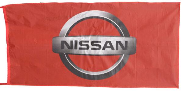 Flag  Nissan Landscape Red Flag / Banner 5 X 3 Ft (150 x 90 cm) Automotive Flags