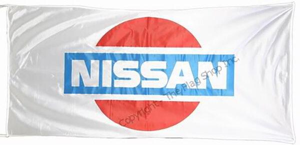 Flag  Nissan Landscape White Flag / Banner 5 X 3 Ft (150 x 90 cm) Automotive Flags