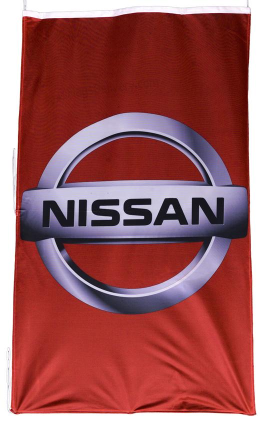 Flag  Nissan Vertical Red Flag / Banner 5 X 3 Ft (150 x 90 cm) Automotive Flags