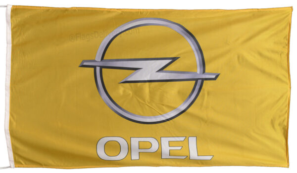 Flag  Opel Landscape Yellow Flag / Banner 5 X 3 Ft (150 x 90 cm) Automotive Flags