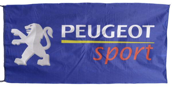 Flag  Peugeot Sport Landscape Blue Flag / Banner 5 X 3 Ft (150 x 90 cm) Automotive Flags