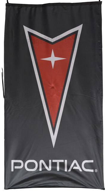 Flag  Pontiac Vertical Black Flag / Banner 5 X 3 Ft (150 x 90 cm) Automotive Flags