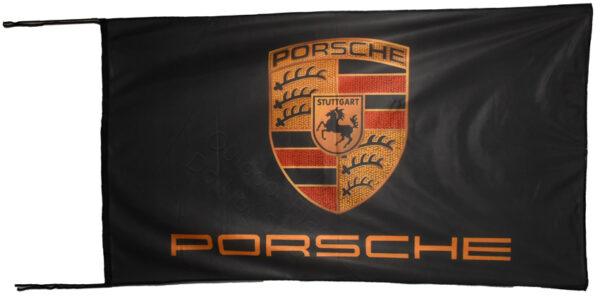 Flag  Porsche Landscape Black Flag / Banner 5 X 3 Ft (150 x 90 cm) Automotive Flags