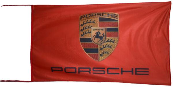 Flag  Porsche Landscape Red Flag / Banner 5 X 3 Ft (150 x 90 cm) Automotive Flags