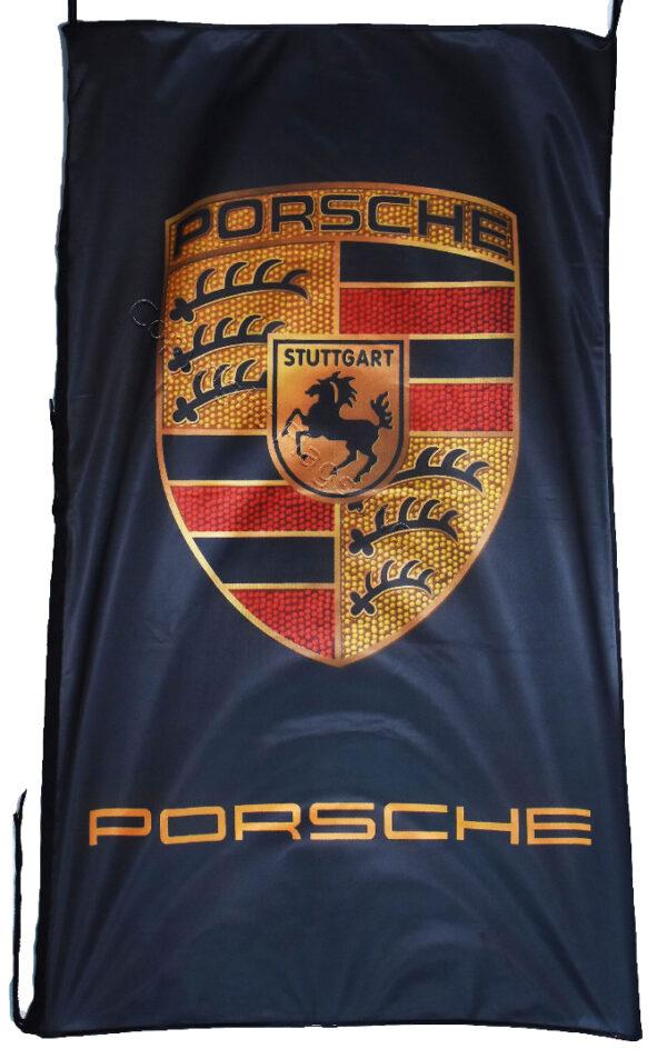 Flag  Porsche Vertical Black Flag / Banner 5 X 3 Ft (150 x 90 cm) Automotive Flags