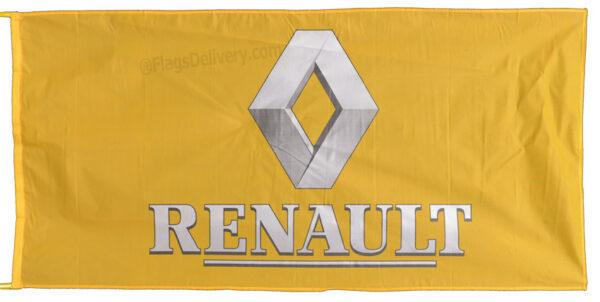 Flag  Renault Landscape Yellow Silver 1 Flag / Banner 5 X 3 Ft (150 x 90 cm) Automotive Flags