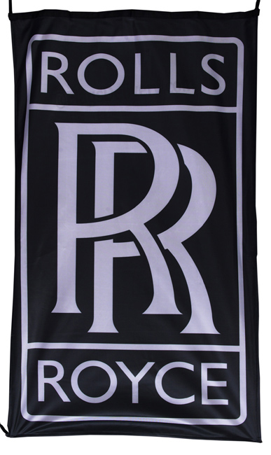 Flag  Rolls Royce Vertical Black Flag / Banner 5 X 3 Ft (150 x 90 cm) Automotive Flags