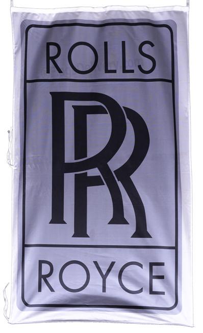Flag  Rolls Royce Vertical Gray Flag / Banner 5 X 3 Ft (150 x 90 cm) Automotive Flags
