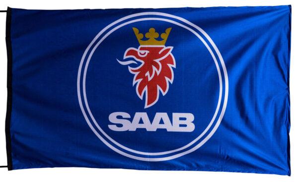 Flag  SAAB Landscape Blue Flag / Banner 5 X 3 Ft (150 x 90 cm) Automotive Flags