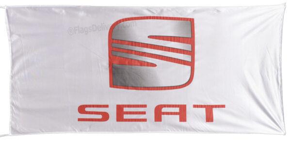 Flag  Seat Landscape White Flag / Banner 5 X 3 Ft (150 x 90 cm) Automotive Flags