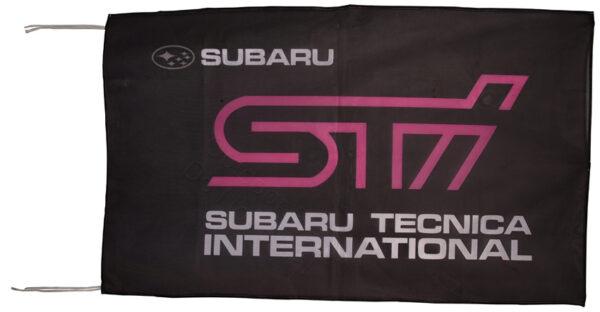 Flag  Subaru Sti Landscape Black Flag / Banner 5 X 3 Ft (150 x 90 cm) Automotive Flags