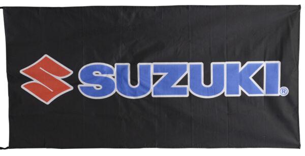 Flag  Suzuki Landscape Black Flag / Banner 5 X 3 Ft (150 x 90 cm) Motorcycle Flags