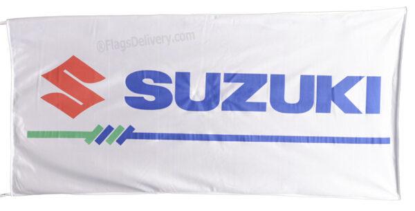Flag  Suzuki Landscape White Flag / Banner 5 X 3 Ft (150 x 90 cm) Motorcycle Flags