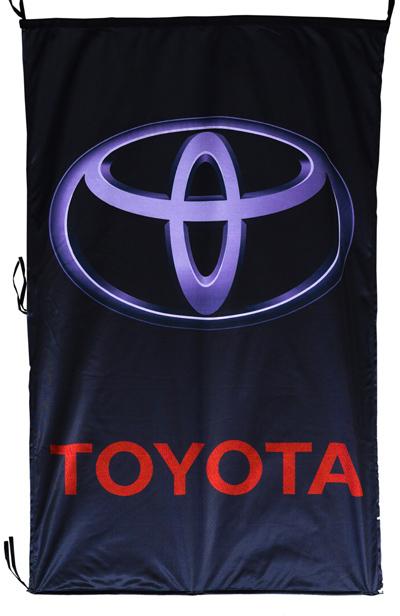 Flag  Toyota Vertical Black Flag / Banner 5 X 3 Ft (150 x 90 cm) Automotive Flags