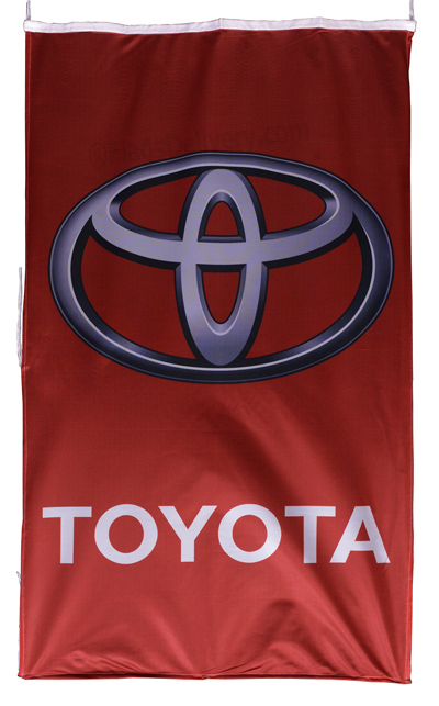 Flag  Toyota Vertical Red Flag / Banner 5 X 3 Ft (150 x 90 cm) Automotive Flags