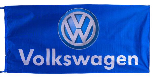 Flag  Volkswagen Landscape Blue Flag / Banner 5 X 3 Ft (150 x 90 cm) Automotive Flags