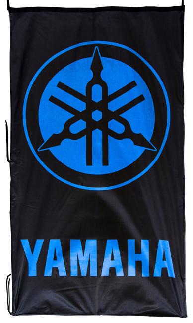 Flag  Yamaha Vertical Black Blue Flag / Banner 5 X 3 Ft (150 x 90 cm) Motorcycle Flags