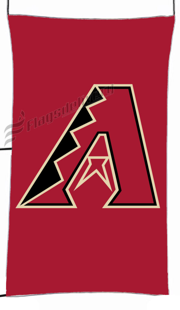Flag  Arizona Diamondbacks Red Vertical Flag / Banner 5 X 3 Ft (150 X 90 Cm) Sport Flags