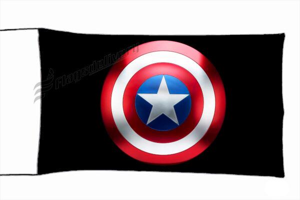 Flag  Captain America Black Flag / Banner 5 X 3 Ft (150 x 90 cm) TV, Movies & Celebrities Flags