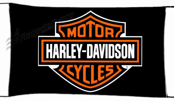 Flag  Harley Davidson Black Landscape Flag / Banner 5 X 3 Ft (150 X 90 Cm) Harley Davidson
