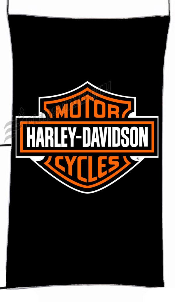 Flag  Harley Davidson Black Vertical Flag / Banner 5 X 3 Ft (150 X 90 Cm) Harley Davidson