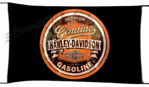 Flag  Harley Davidson Gasoline Black Landscape Flag / Banner 5 X 3 Ft (150 X 90 Cm) Harley Davidson