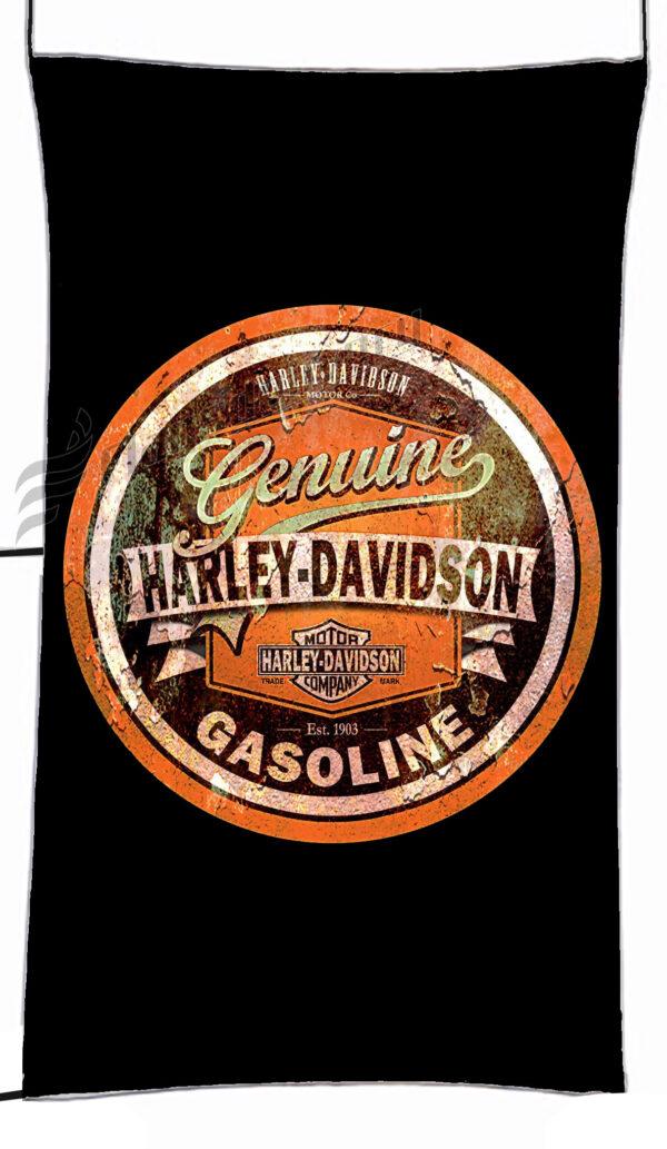 Flag  Harley Davidson Gasoline Black Vertical Flag / Banner 5 X 3 Ft (150 X 90 Cm) Harley Davidson