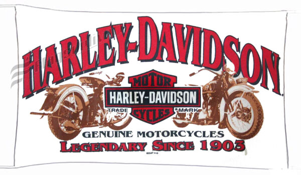 Flag  Harley Davidson Genuine Motorcycles White Landscape Flag / Banner 5 X 3 Ft (150 X 90 Cm) Harley Davidson