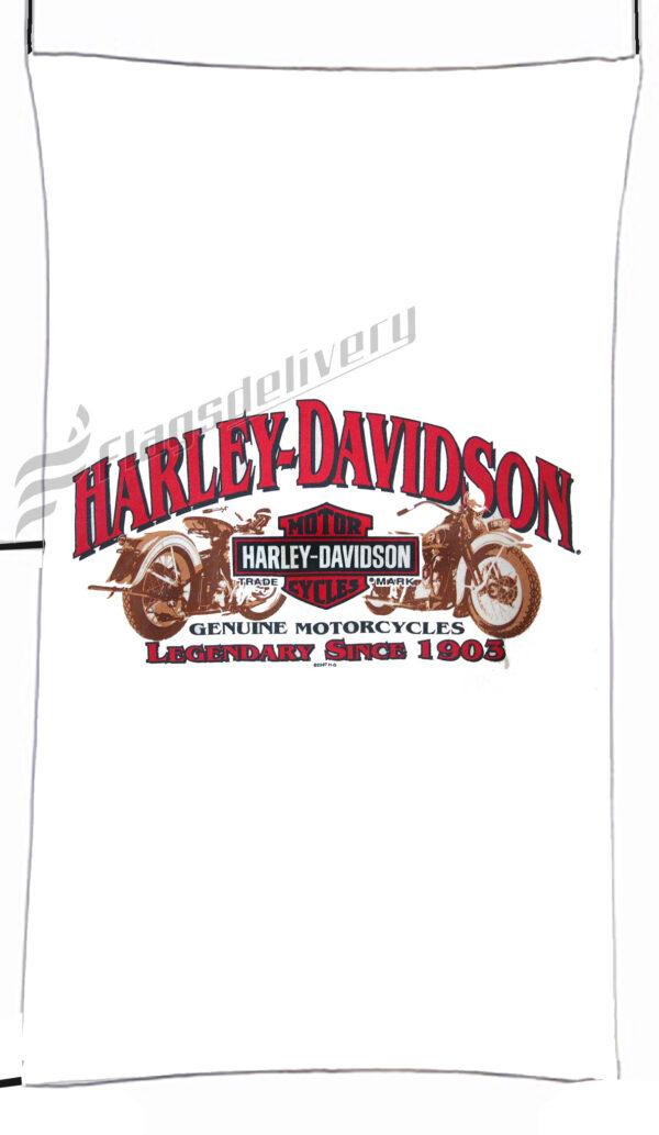 Flag  Harley Davidson Genuine Motorcycles White Vertical Flag / Banner 5 X 3 Ft (150 X 90 Cm) Harley Davidson