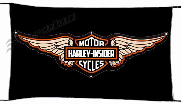 Flag  Harley Davidson Insider Black Landscape Flag / Banner 5 X 3 Ft (150 X 90 Cm) Harley Davidson