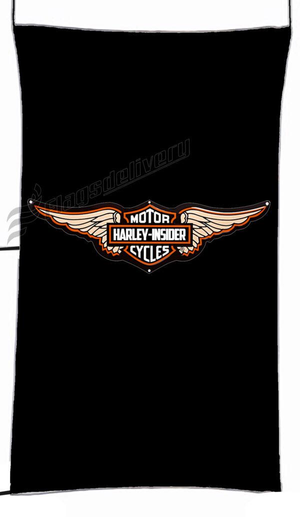 Flag  Harley Davidson Insider Black Vertical Flag / Banner 5 X 3 Ft (150 X 90 Cm) Harley Davidson
