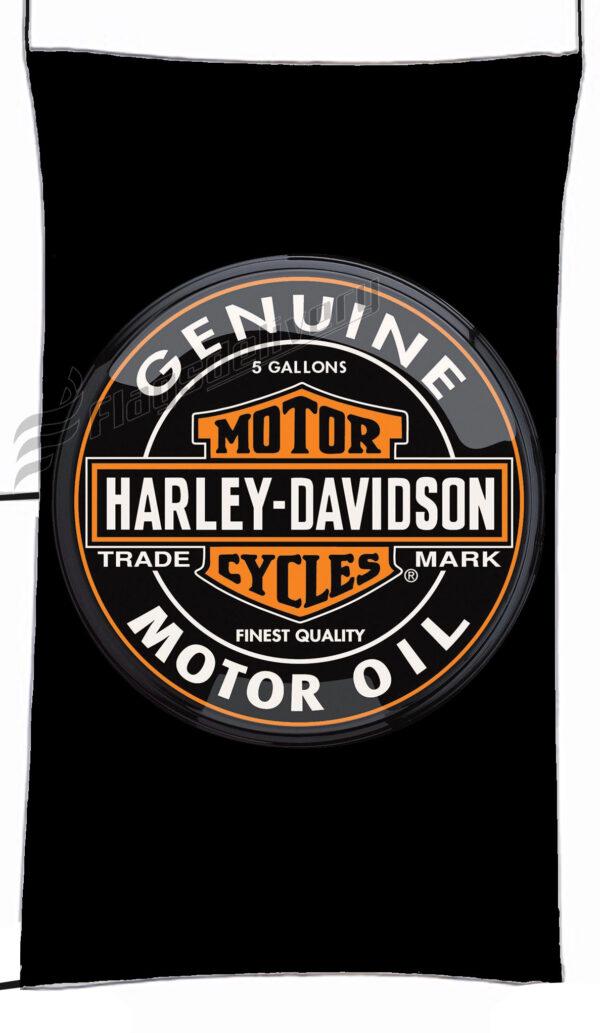Flag  Harley Davidson Motor Oil Black Vertical Flag / Banner 5 X 3 Ft (150 X 90 Cm) Harley Davidson