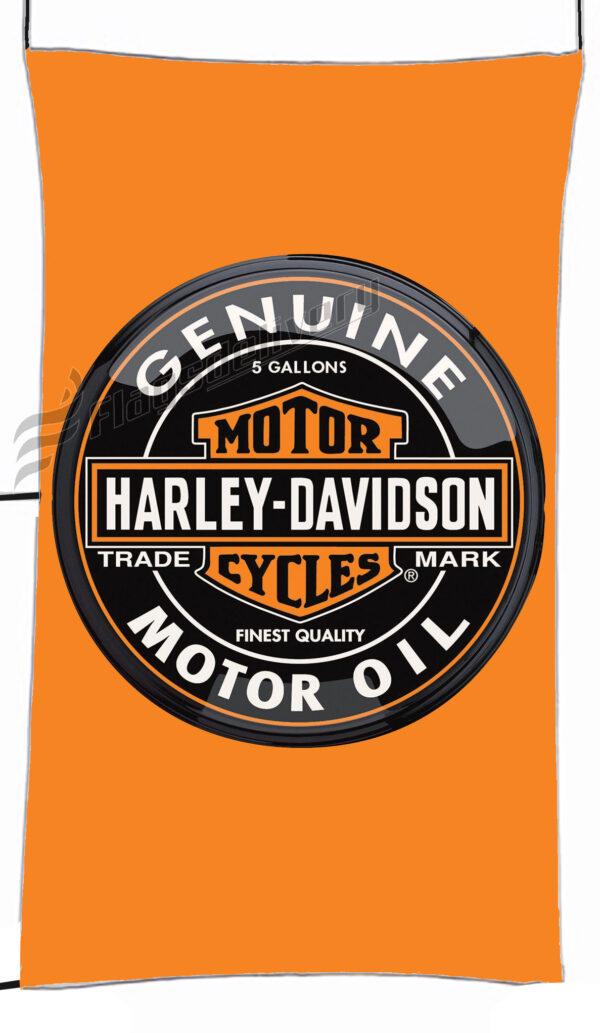 Flag  Harley Davidson Motor Oil Orange Vertical Flag / Banner 5 X 3 Ft (150 X 90 Cm) Harley Davidson