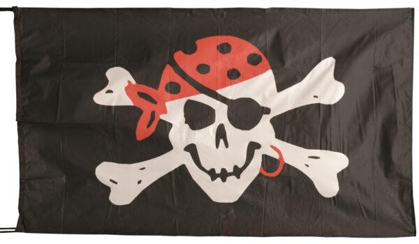 Flag  Pirate #04 Landscape Black Flag / Banner 5 X 3 Ft (150 x 90 cm) Pirate Flags