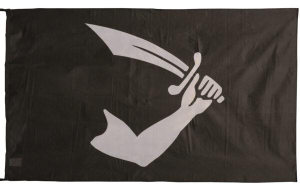 Flag  Pirate #06 Landscape Black Flag / Banner 5 X 3 Ft (150 x 90 cm) Pirate Flags