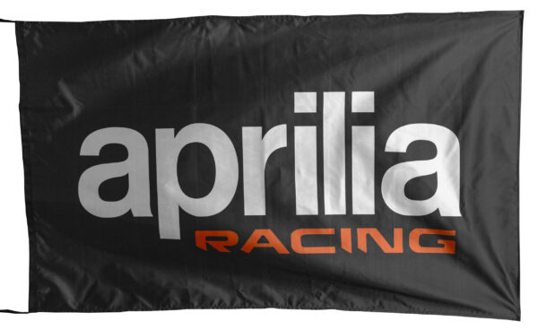Flag  Aprilia Racing Landscape Black Flag / Banner 5 X 3 Ft (150 x 90 cm) Aprilia