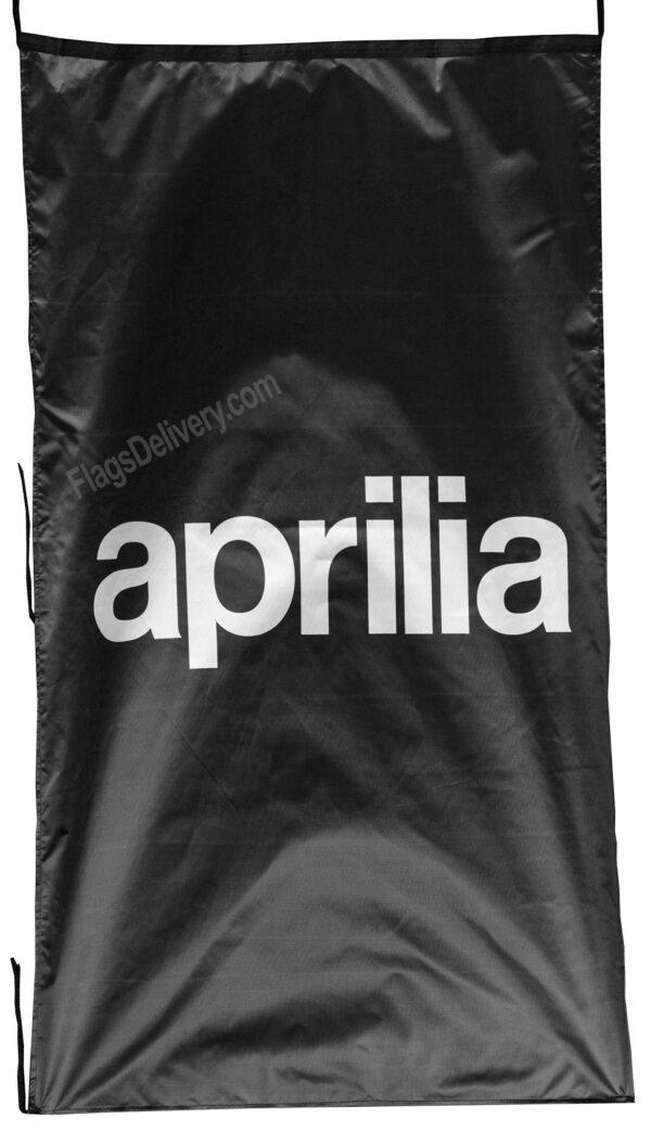 Flag  Aprilia Vertical Black Flag / Banner 5 X 3 Ft (150 x 90 cm) Aprilia